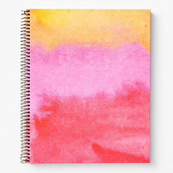 WASTE NOT PAPER PINK WATERCOLOR JOURNAL