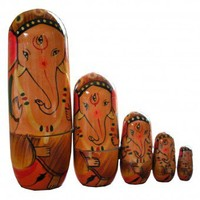 Hand-painted Ganesh wooden nesting dolls  | Toshom - Indian Inspired Gifts! Tradition for Today!