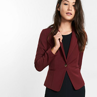 extreme stretch black peak lapel jacket