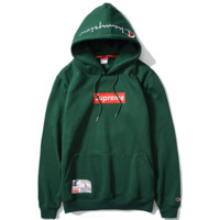 """""""Supreme""""""""Champion""""Contracted hooded sweater Green"""