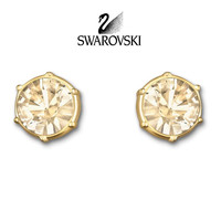 Swarovski Gold Shadow Crystal TYPICAL Pierced Earrings #5084709