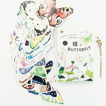 30 pcs/lot novelty beautiful butterfly postcard heteromorphism greeting card christmas card birthday message card gift cards