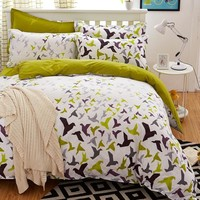 bedding set 5 size Green Spirit bedding set duvet cover set Korean bed sheet +duvet cover +pillowcase pink bed cover  bed linen