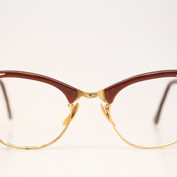 Vintage Cat Eye Glasses 1/10 12k Gold from PinceNezShop on Etsy