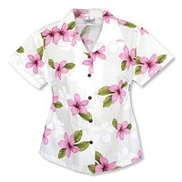 delight pink hawaiian lady blouse