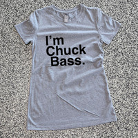 Gossip Girl Shirt - I'm Chuck Bass Athletic Grey