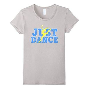 Dance Shirt Blue Yellow Just Dancing Dancer Mom Daughter