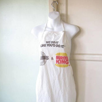 Rare 1980s Vintage San Diego Padres/Burger King Apron w/ We Do It Like You Do It Slogan;  U.S. Shipping Included