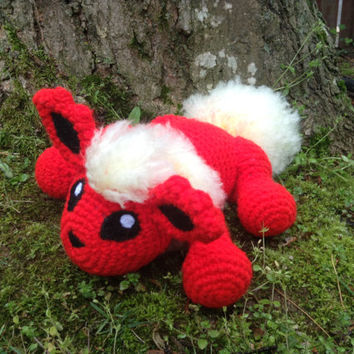 Pokemon Inspired: Flareon Amigurumi (Crochet Plushie/Plush Toy) - READY TO SHIP!