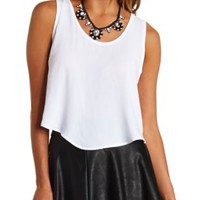 Double Bow-Back Swing Crop Top by Charlotte Russe