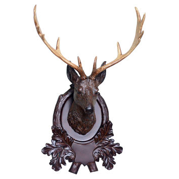 Faux Deer-Head Plaque, Natural, Antlers, Horns, Taxidermy & Faux-Taxidermy