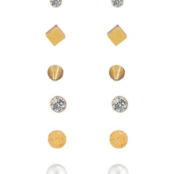 Boosic 6/9 Pair Earrings Set Dainty Geometric Stud Earring For Women
