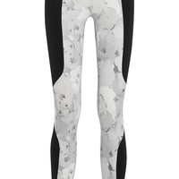 Live The Process -  Paneled printed stretch-jersey leggings