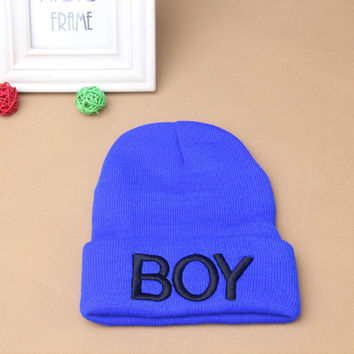 Toddler Baby Girl Boy BOY Skull Hat Warm Beanie Caps Woolen Ski Hats  SM6