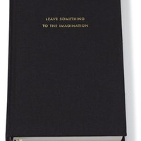 Kate Spade New York Leave Something to the Imagination Black Lined Journal