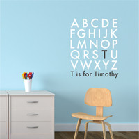 Nursery wall decal - Alphabet Name Monogram