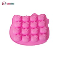 Pink Hello kitty Shape Fondant Cake Pan Silicone Mold Sugar Craft Baking Pan Cake Decoration