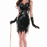 Liquid Black Witch Costume