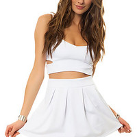 The Stay in School Skirt in White