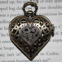 Heart Locket Watch Necklace | Wicked Clothes