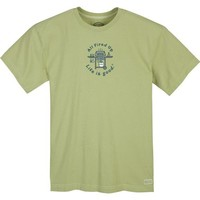 Life is good. Mens Crusher Tee - All Fired Up Grill - Sprout Green - M