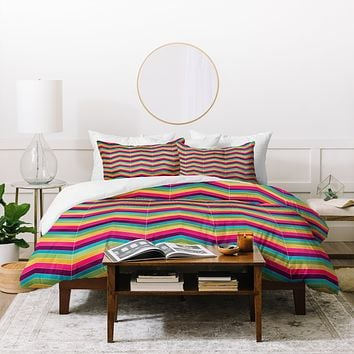 Lara Kulpa Chevron Brights Duvet Cover