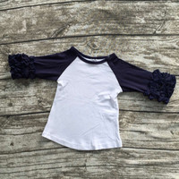 In Stock- navy icing raglan Tshirt