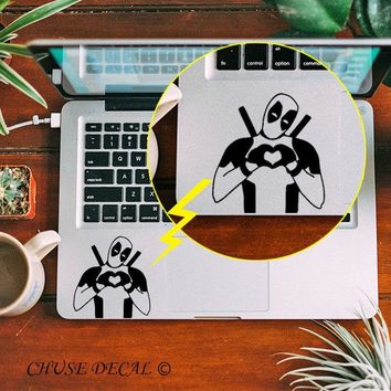 "Hippie Deadpool Heart Hand Touchpad Skin Laptop Trackpad Sticker for 11"" 12"" 13"" 15 Macbook Air / Pro / Retina Notebook Decal"