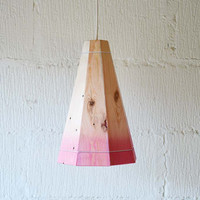 Large Faded Pink Ceiling Light Shade