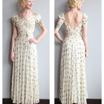 Late 30s Dress // Star of Capricorn Gown // vintage 30s gown