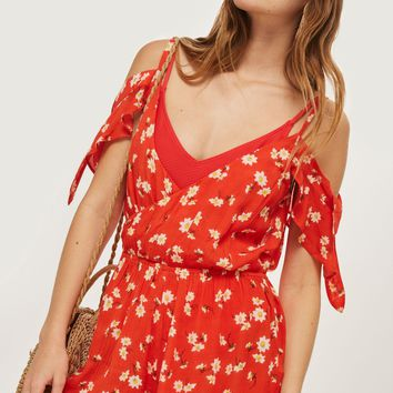 Daisy Print Playsuit - New In Fashion - New In