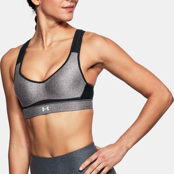 Women's UA Warp Knit High Heathered Sports Bra | Under Armour US