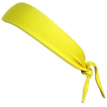 Canary Yellow Elastic Tie 2.25 Inch Headband