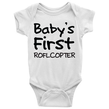 Baby's First ROFLCOPTER Baby Onesuit