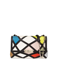 Roger Vivier Prismick Shoulder Bauhaus Mini Bag, Multicolor