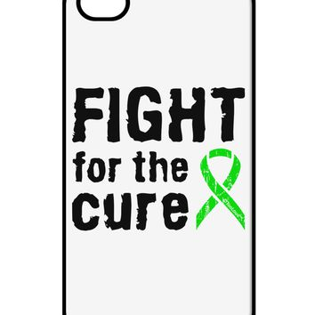 Fight for the Cure - Lime Green Ribbon Lyme Disease iPhone 4 / 4S Case  by TooLoud