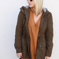 Army Brat Hooded Jacket