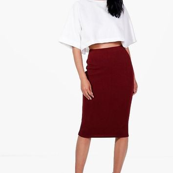 Lexi Boxy Crop And Midi Skirt Co-Ord | Boohoo
