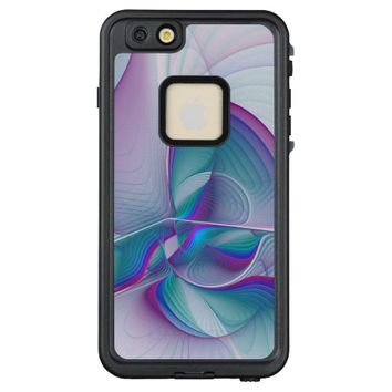 Colorful Modern Pink Blue Turquoise Fractal Art LifeProof® FRĒ® iPhone 6/6s Plus Case