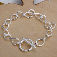 silver plated jewelry bracelet fine bracelet139 MP