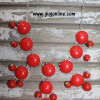 Bubbalicious Red Bubble Necklace