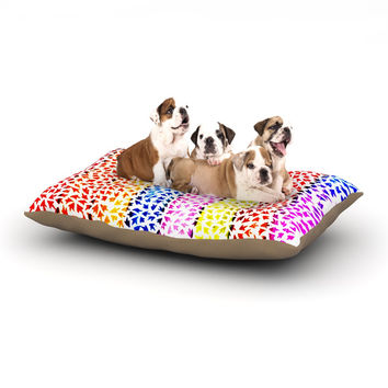 "Sreetama Ray ""Rainbow Arrows"" Multicolor Dog Bed"