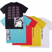 HCXX Supreme Collaboration Why cant My boyfriend Skate Comics Tee Skateboard T-shirt Men Rep