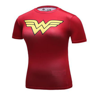 Women DC Comics Superhero Wonder 3D T Shirts