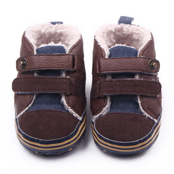 Fashion Newborn Warm Baby Boys Shoes First Walker Infants Antislip Toddler Boots SM6