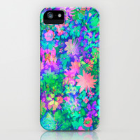 Fluro Floral iPhone & iPod Case by Amy Sia