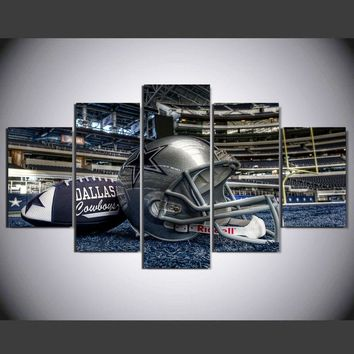 HD Printed Painting dallas cowboys football helmet painting room decoration  poster canvas Free shipping framed art  w/1040