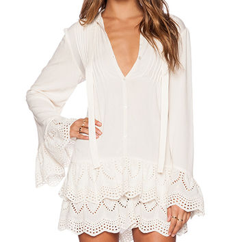 Jen's Pirate Booty x REVOLVE Wildflower Mini Dress in Ivory