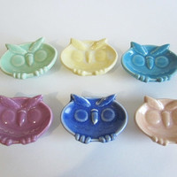 Owl ring holder, teabag holder, ring dish, trinket dish, miniature dish, bridal shower favor
