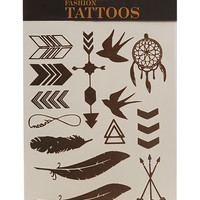 Boho Metallic Temporary Tattoos | Wet Seal